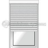 Ρολό Αλουμινίου Με Φυλλαράκι Πολυουρεθάνης 9x39 Κουτί Επικαθήμενο 210χ230 Πομπέ Με Θερμοδιακοπή