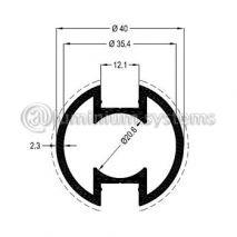 Κολώνα Στήριξης Φ40 Βάρος 0,945 kgr/m