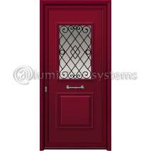 Πόρτα Αλουμινίου Με Διακοσμητική Ασφάλεια I-3020-M