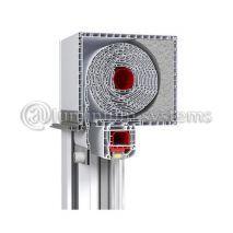 Ρολό Pvc Με Φυλλαράκι Πλαστικό 8χ37 & Κουτί Πλαστικό 153χ203 Χρώμα Λευκό