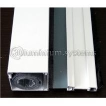 Κασετίνα με οικονομικό άξονα 40mm πάχος κουτιού x 6m με σήτα 160 cm για παράθυρα MITSOPOULOS