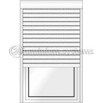Ρολό Αλουμινίου εξωτερικό Με Φυλλαράκι Πολυουρεθάνης 9Χ45 Με κουτί 14.5Χ14.5 Σε χρώμα λευκό