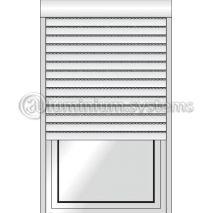 Ρολό Αλουμινίου Με Φυλλαράκι Πολυουρεθάνης 9x39 Κουτί Επικαθήμενο 138χ182 Ίσιο Η Πομπέ