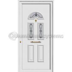 Πόρτα εισόδου pvc Με Διακοσμητική Ασφάλεια 8412