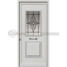 Πόρτα Αλουμινίου Με Διακοσμητική Ασφάλεια I-3010-M