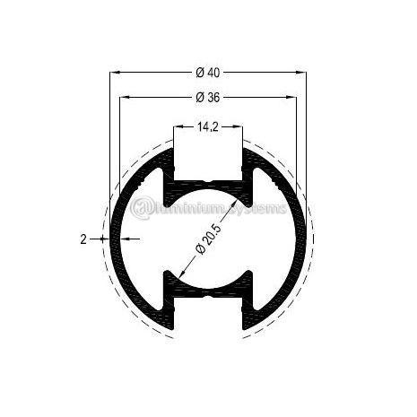Κολώνα Στήριξης Φ40 Βάρος 0,896 kgr/m