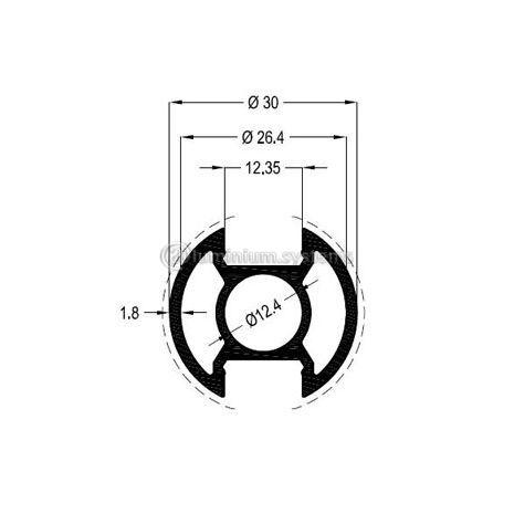 Κολώνα Στήριξης Φ30 Βάρος 0,621 kgr/m