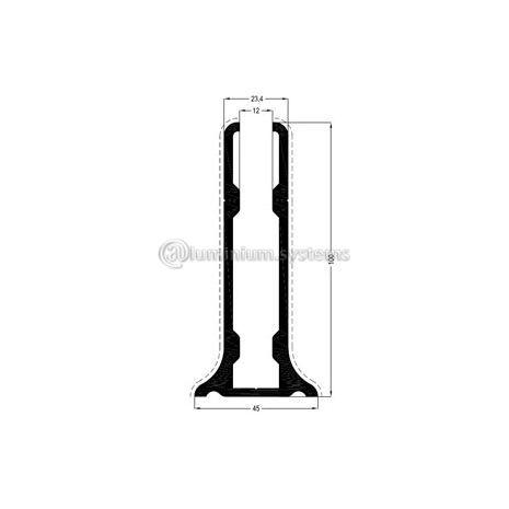 Προφίλ Βάση Τζαμιού Βάρος 2,518 kgr/m