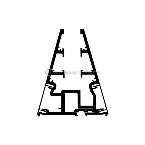 Προφίλ βάση τζαμιού για τζάμι 10mm-15mm-20mm. Βάρος 6,00 kgr/m