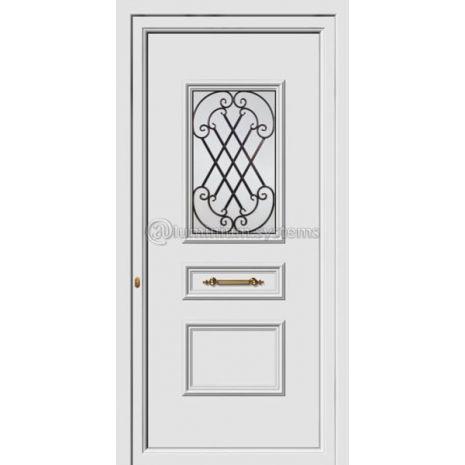 Πόρτα εισόδου pvc Με Διακοσμητική Ασφάλεια 8161