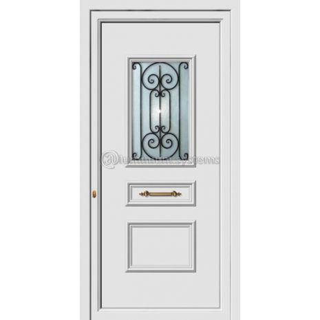 Πόρτα εισόδου pvc Με Διακοσμητική Ασφάλεια 8163