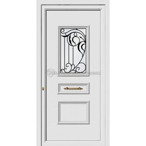 Πόρτα εισόδου pvc Με Διακοσμητική Ασφάλεια 8164
