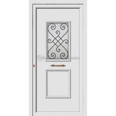 Πόρτα εισόδου pvc Με Διακοσμητική Ασφάλεια 8172