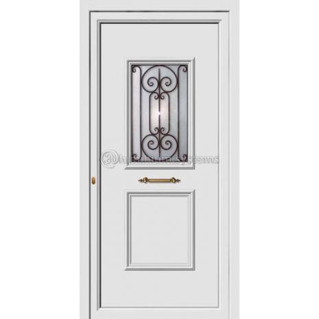 Πόρτα εισόδου pvc Με Διακοσμητική Ασφάλεια 8173