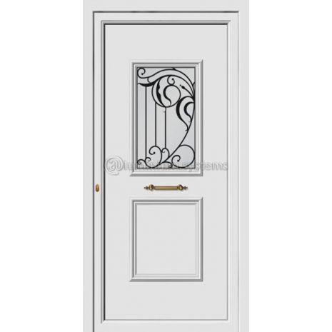 Πόρτα εισόδου pvc Με Διακοσμητική Ασφάλεια 8174