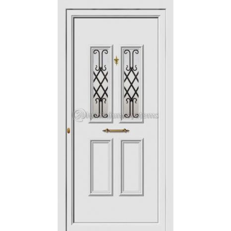 Πόρτα εισόδου pvc Με Διακοσμητική Ασφάλεια 8181