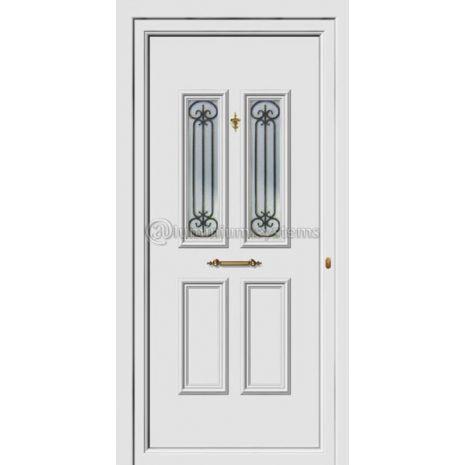 Πόρτα εισόδου pvc Με Διακοσμητική Ασφάλεια 8183