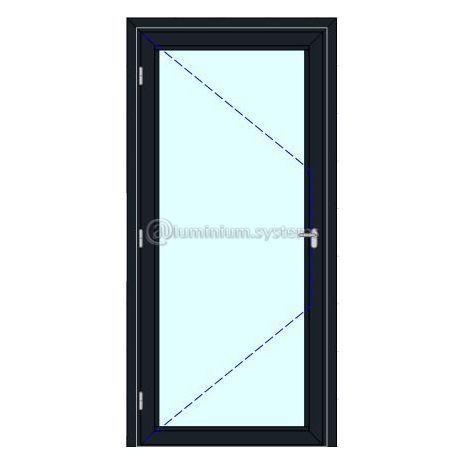 Πόρτα Εισόδου Pvc Χωρίς Γέμισμα Kömmerling 76 Ad Χρώμα Λευκό